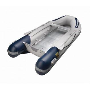 V-Quipment gummibåt typ Exporer. 300 cm. Aluminiumdurk, grå och blå.