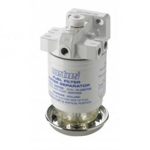 Vattenavskiljande bränslefilter CE/ABYC, dubbel, 10 micron, max. 42 g/h (190 l/h)