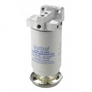 Vattenavskiljande bränslefilter CE/ABYC, enkel, 10 micron, max. 84 g/h (380 l/h)