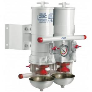 Vattenavskiljande bränslefilter CE/ABYC, dubbel, 30 micron, max. 12 l/min (681 l/h)