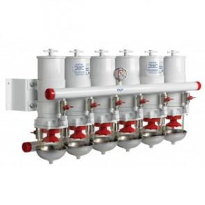 Vattenavskiljande bränslefilter CE/ABYC, 6 i serie, 30 micron, max. 60 l/min (3600 l/h)