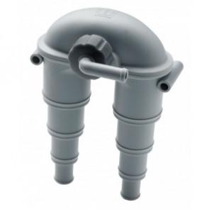 Vakuumventil med inbyggd ventil för slang med I.D. 14-32 mm