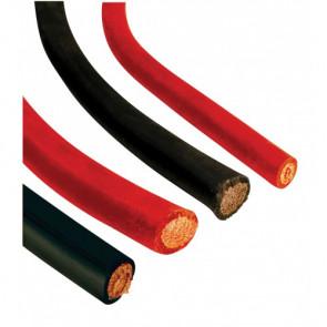 Batterikabel 50 mm² med PVC, svart (pris/m)