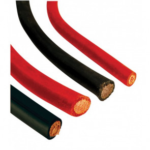 Batterikabel 50 mm² med PVC, röd (pris/m)
