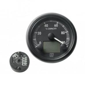 Energiförbruknings mätare 12/24 Volt, med 200 A shunt. Svart tavla