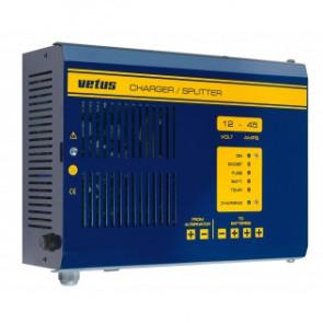 Kombinerad batteriladdare och batterifördelare 12 V, 25 A, för 3 batteribanker