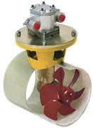 Hydraulisk bogpropeller, 95 kgf, ink. hydraulmotor 6 kW, för tunneldiameter 185 mm