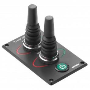 Bogpropellerpanelmed tvp joysticks för hydraulisk bog- och akterprop, 5-läges.