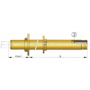 Extra stödlager till hylsrör (lager nr. 2) för 50 mm axel