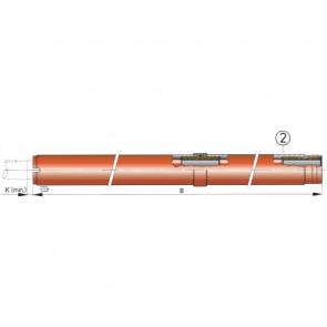 Extra stödlager till hylsrör (lager nr 3) för 30 mm axel