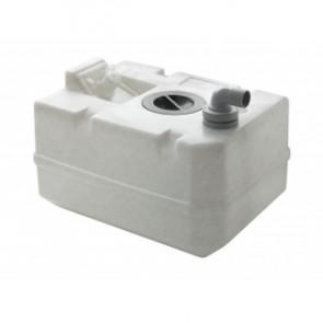 Svartvattentank i plast, 25 l, inkl. anslutningar och inspektionslock (exkl. påfyllningsnippel)