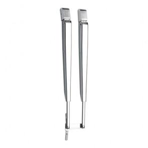 Parallelltorkararm i rostfritt stål, 308-393 mm, komplett med installationssats, med DIN anslutning