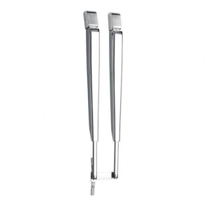 Parallelltorkararm i rostfritt stål, 371-456 mm, komplett med installationssats, med DIN anslutning