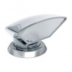 Däcksventilator typ Donald i rostfritt stål 316, vit insida (inkl gängad ring och fäste på däck)