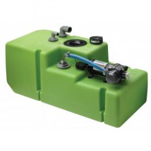 """Dricksvattentanksystem """"Premium"""" 88 liter inkl. 12/24 Volts pump samt anslutningar, komplett"""