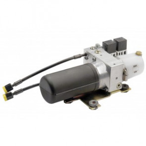 Elektrohydraulisk pump med reversibel motor och inbyggd backventil, typ AR, 350 cc/min 24 V