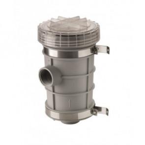 """Sjövattenfilter typ 1320, anslutning G2"""" inkl. fäste för skottmontering"""