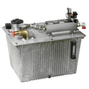 Hydraultank 70 liter, inkl. Påfylln./luftn./filter, nivå-/tempmät, sug-, tryck- och läckoljeansl., solenoidventil /HT1013) och block för kontrollenheter