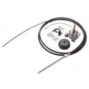 Kabelstyrningssats ZF upp till 250 hk, inkl. styrväxel, 90° monteringssats samt 10 fot (305 cm) styrkabel.