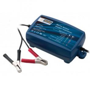 5-stegs batteriladdare för laddning/underhåll. Effekt: 12V, 5A