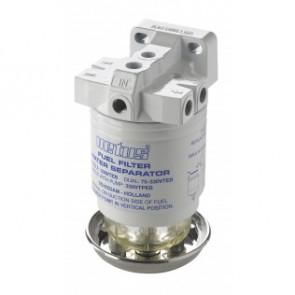 Vattenavskiljande bränslefilter CE/ABYC, enkel, 10 micron, max. 42 g/h (190 l/h)