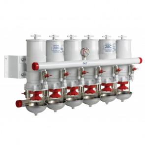 Vattenavskiljande bränslefilter CE/ABYC, 5 i serie, 30 micron, max. 48 l/min (2880 l/h)