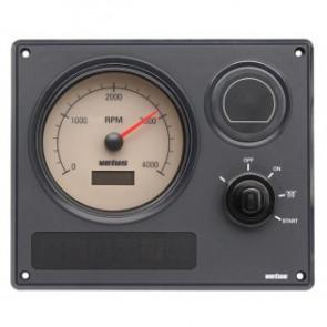Motorinstrumentpanel typ MP21, 12V, 1 varvräknare med vita tavla (0-4000 rpm)