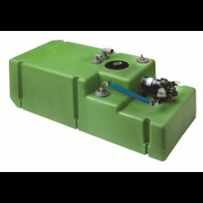 """Dricksvattentanksystem """"Comfort"""" 120 liter inkl. 12 Volts pump samt anslutningar, komplett"""