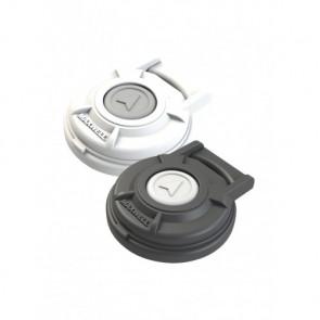 Fotkontakt med lock, svart, 5A (endast i kombination med relä), Ø 65mm, höjd 22 mm