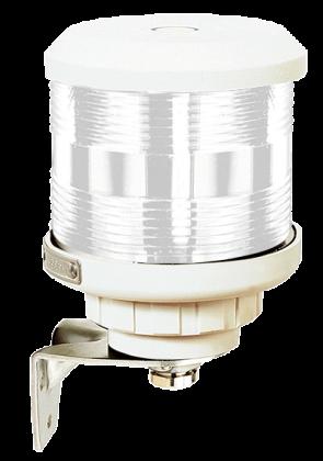 Runtomlysande lanterna vitt sken (basmonterad), vitt lamphus (exkl. glödlampa)