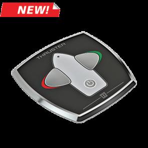 Touchpanel med tidsfördröjningsrelä för bogpropeller, aluminium, 95 x 95 mm, 12/24 V