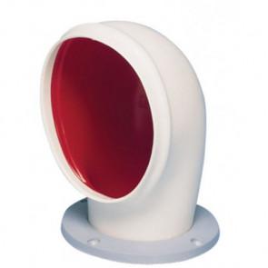 Däcksventilator typ Libec S, i silikon med röd insida, i.d. 75 mm (inkl, monteringsring)