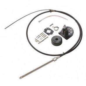 Kabelstyrningssats för utombordare upp till 55 hk, inkl. styrväxel, 90° monteringssats samt 9 fot (274,5 cm)styrkabel.