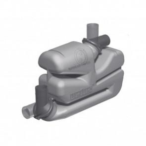 Vattenlås i plast typ LSG75 med roterbart in- och utlopp