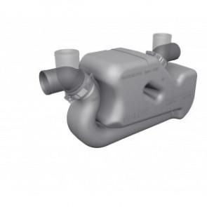 Vattenlås i plast typ LSS45 med roterbart in- och utlopp