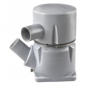 Vattenlås i plast, typ MGP, inlopp 127 mm -45° vinkel, utlopp 127mm