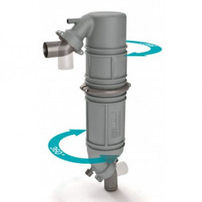 Ljuddämpare/svanhals i plast typ NLPG, 75mm