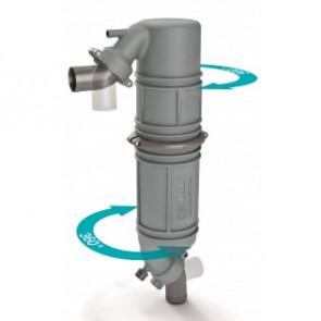 Ljuddämpare/svanhals i plast typ NLPG, 90mm