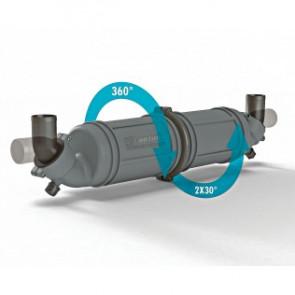 Vattenlås/ljuddämpare i plast typ NLPH, horisontal 45mm