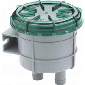 Odörfilter för avluftning från septik/avloppstank, liten modell, med anslutning för slang med i.d. 16 mm