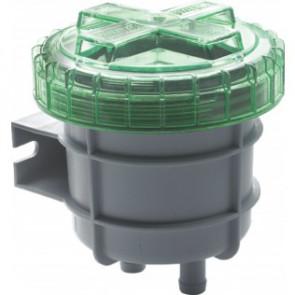 Odörfilter för avluftning från septik/avloppstank, med anslutning för slang med i.d. 19 mm