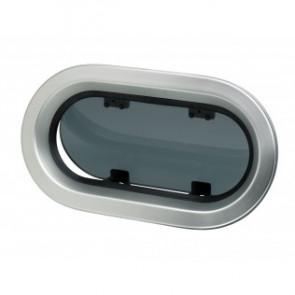 Portlight, i aluminum, typ PM123, Klass A3, inkl. myggnät