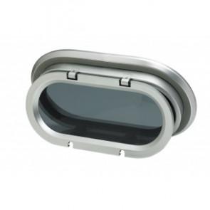 Portlight, i aluminum, typ PM141, Klass A1, inkl. myggnät