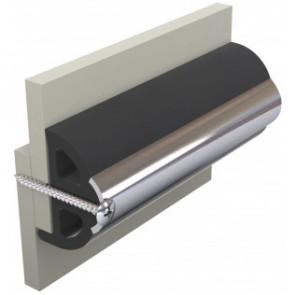 Avbärarlist, mörk grå, typ POLY4S, 40 x 31 mm, rulle om 30 meter (pris/m)