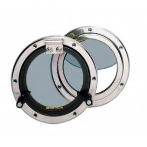 Portlight typ PQ52 i rostfritt stål inkl. myggnät, håltagningsmått D. 152 mm