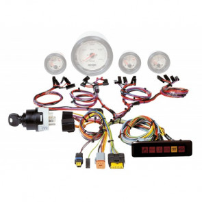 Signalkabelstam för motorinstrument, inkl panel med varningslamporoch startnyckel med förglödningsfunktion, 12 V