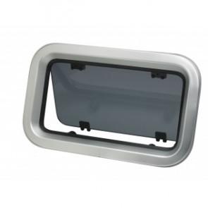 Portlight, i aluminum, typ PZ651, klass A1, inkl. myggnät