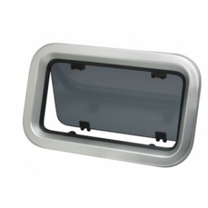 Portlight, i aluminum, typ PZ673, klass A3, inkl. myggnät
