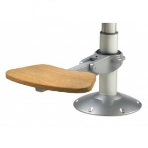 Fotstöd, justerbart med möjlighet att vinkla, för D. 80 och 100 mm, skall kompletteras med adapter nedan