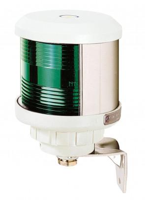 Runtomlysande lanterna grönt sken (basmonterad), vitt lamphus (exkl. glödlampa)